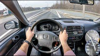 1997 Honda Civic (1.4 i 90 HP) | 0-100 | POV Test Drive #733 Joe Black