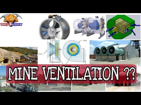 Mine ventilation || types || fan used in mines || mining videos