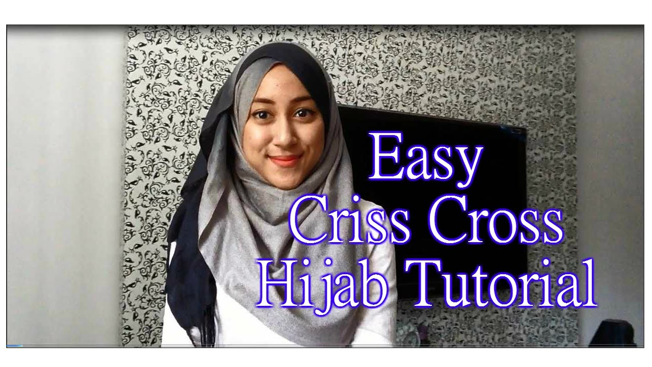 Hijab Tutorial #1: Simple Criss Cross Hijab with Ombre