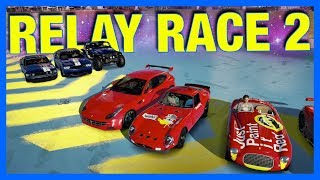 Forza Horizon 3 Online : HOT WHEELS RELAY RACE!!