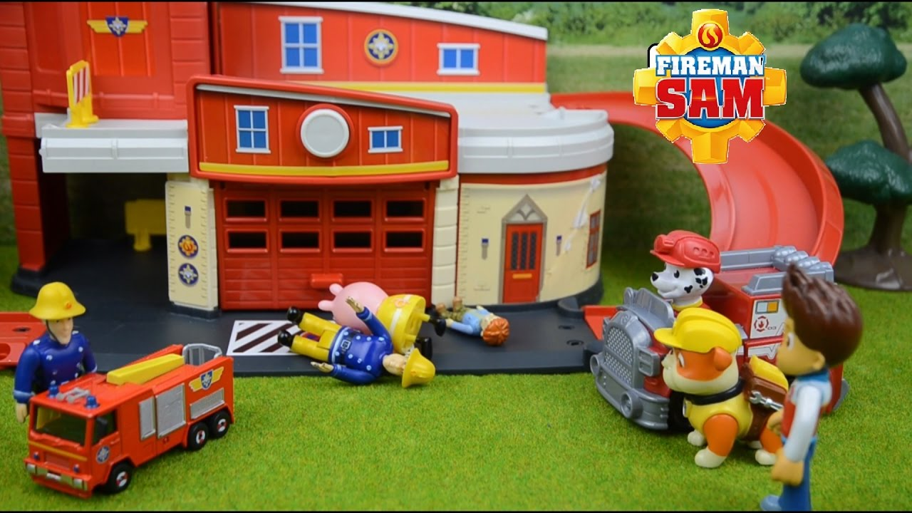 Brandweerman Sam Garage : Fireman sam compilation peppa pig episodes fire engine