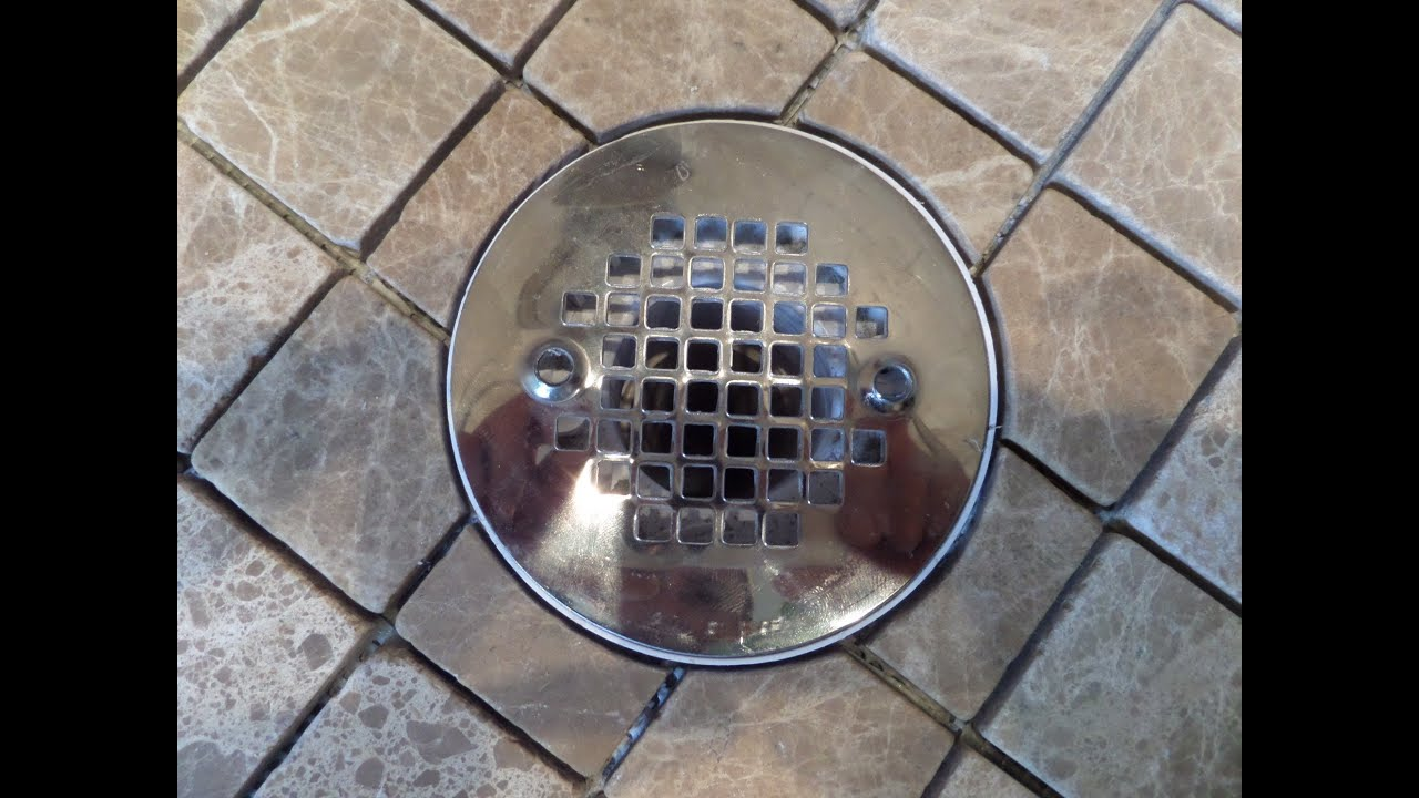 part 1 how to measure cut install tile in circular shape around shower floor drain flange