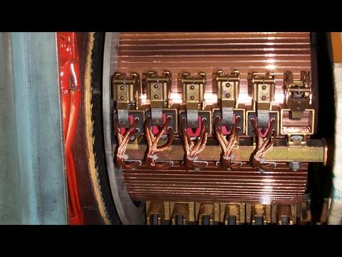 Révision d'un moteur électrique ASEA. Revision of an electric DC motor. 600kW à 620VCC