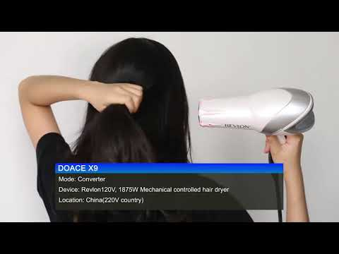 DOACE | X9 Voltage Converter/Adapter Combo | #Works Perfect With 120V Revlon Hair Dryer