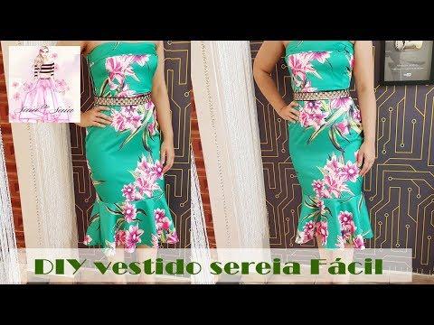 DIY - Vestido Sereia Muito Fácil + Molde - Curso de Corte e Costura - Passo a Passo