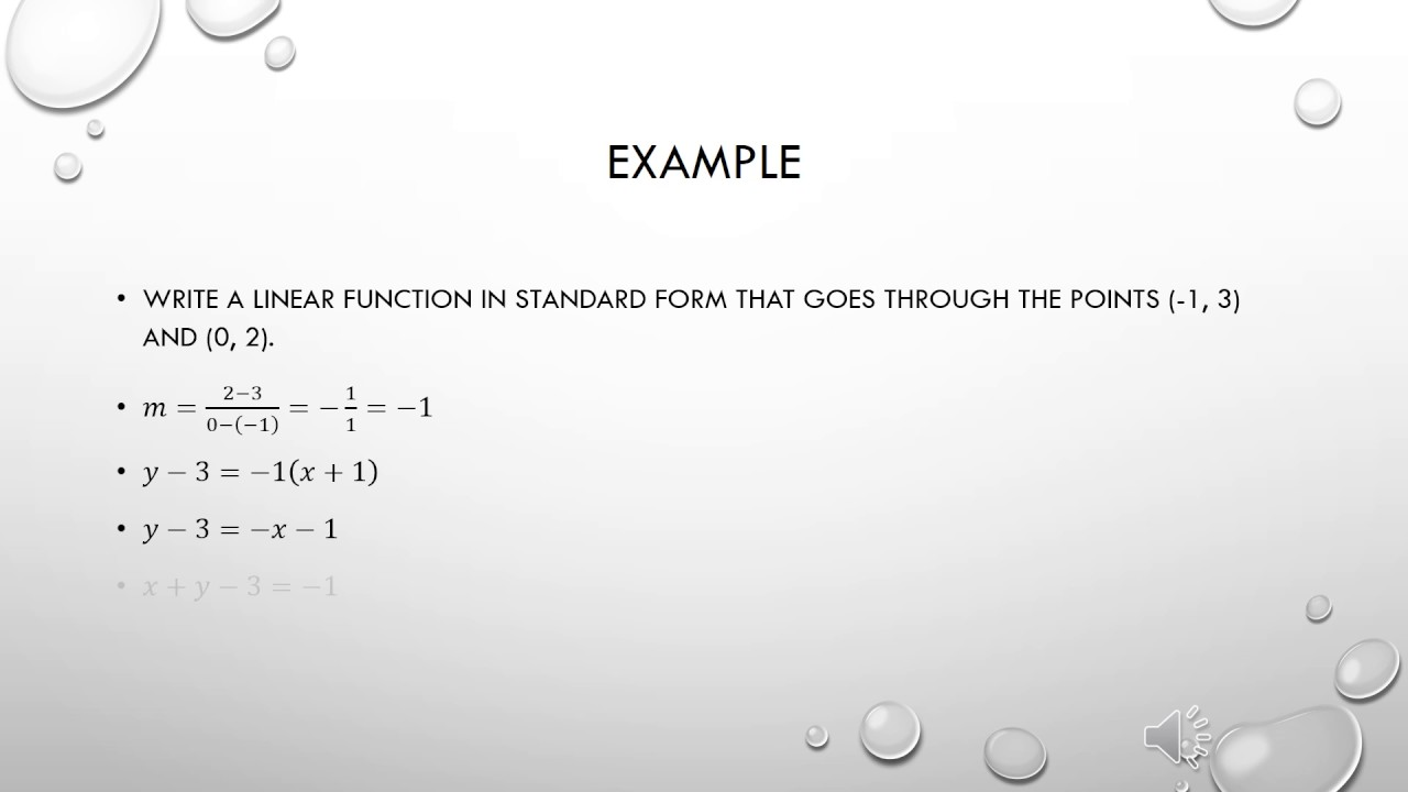 Lesson 7 4 standard form of a linear function youtube lesson 7 4 standard form of a linear function falaconquin