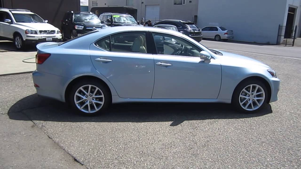 2011 Lexus Is250 Glacier Frost Mica Stock 048676