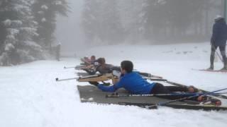 Entraînement de biathlon du Vercors ski de fond