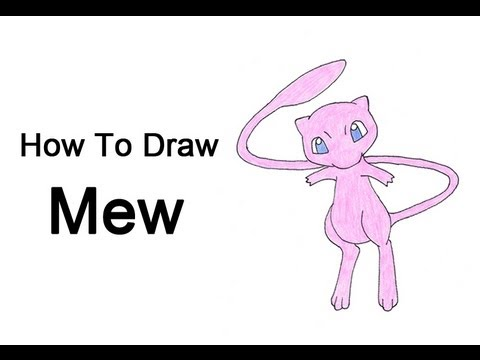 How To Draw Mew Pokemon Youtube