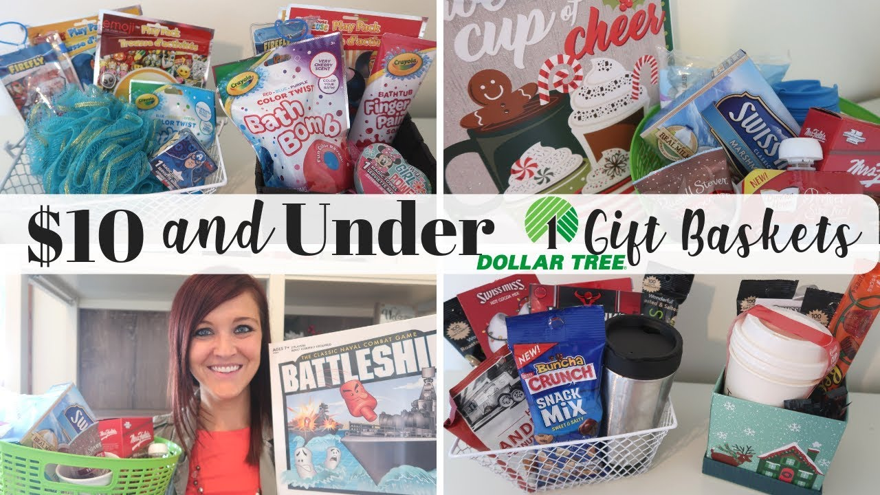 Christmas Gift Ideas Under 10.Dollar Tree Last Minute Christmas Gift Basket Ideas Under 10 Name Brand Products