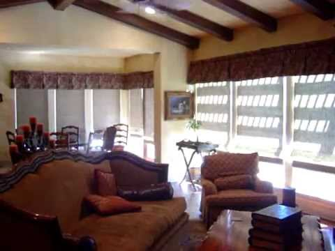 Battery Motorized Woven Wood Blinds by 3 Blind Mice Window Coverings - San Diego