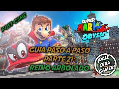 Super Mario Odyssey - Guía Paso a Paso #21 (100%) (Post-Game) - Reino arbolado