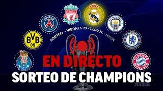 Sorteo de Champions League |  Rival de Real Madrid y cruces de cuartos y semifinales | DIRECTO MARCA
