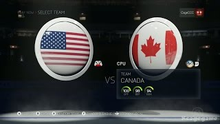 NHL 15 - Gameplay USA vs Canada - Full Game [ HD ]