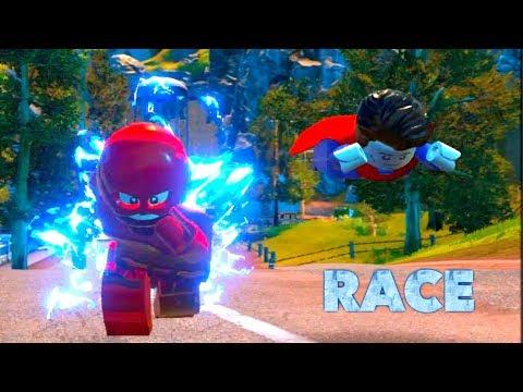 LEGO DC Villains: Flash vs Superman Race!! (Justice League)