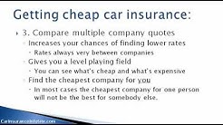 (Car Insurance Categories) - How To Get Car Insurance Cheap