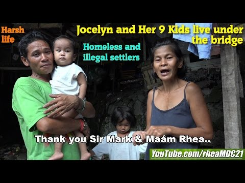 Giving is Socialism. Travel to the Real Philippines. Slum Area, Illegal Settler Under the Bridge