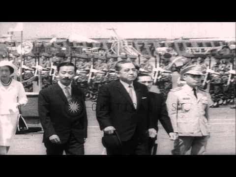 Vietnamese Prime Minster Nguyen Cao Ky greet and receive Premier of Japan Eisaku ...HD Stock Footage