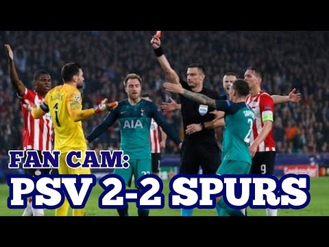 FAN CAM: PSV 2-2 Tottenham - Disappointing Draw in Eindhoven for Spurs as Hugo Sees Red - 24/10/2018