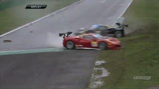 Ferrari Challenge North America 2018. Qualifying 2 Autodromo Nazionale Monza. Crash