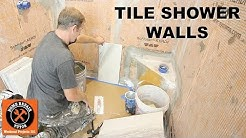 How to Tile a Shower Wall...Vertical 12x24 Porcelain -- by Home Repair Tutor