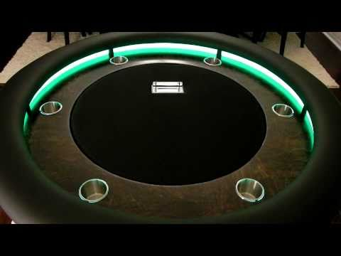 Custom Round Lighted Poker Table