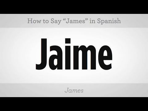 "How to Say ""James"" 