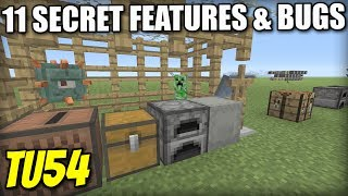 11 SECRET BUGS & FEATURES [ TU54 ] Minecraft Xbox / PS4 / PS3 / Switch / Wii U