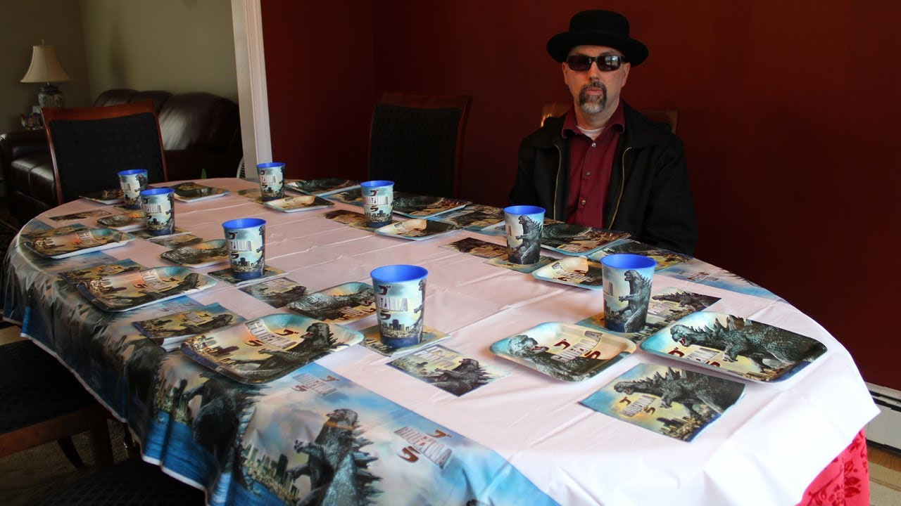 Godzilla 2014 Party Supplies Review - YouTube