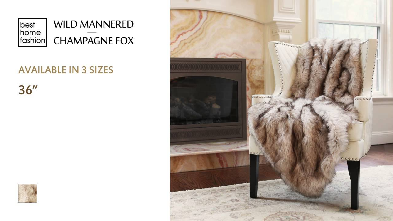 Best Home Fashion Wild Mannered Faux Fur Throws