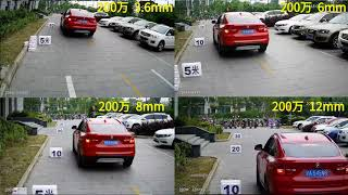 2MP/1080P 3.6mm 6mm 8mm 12mm Lens Viewing Angle Comparison