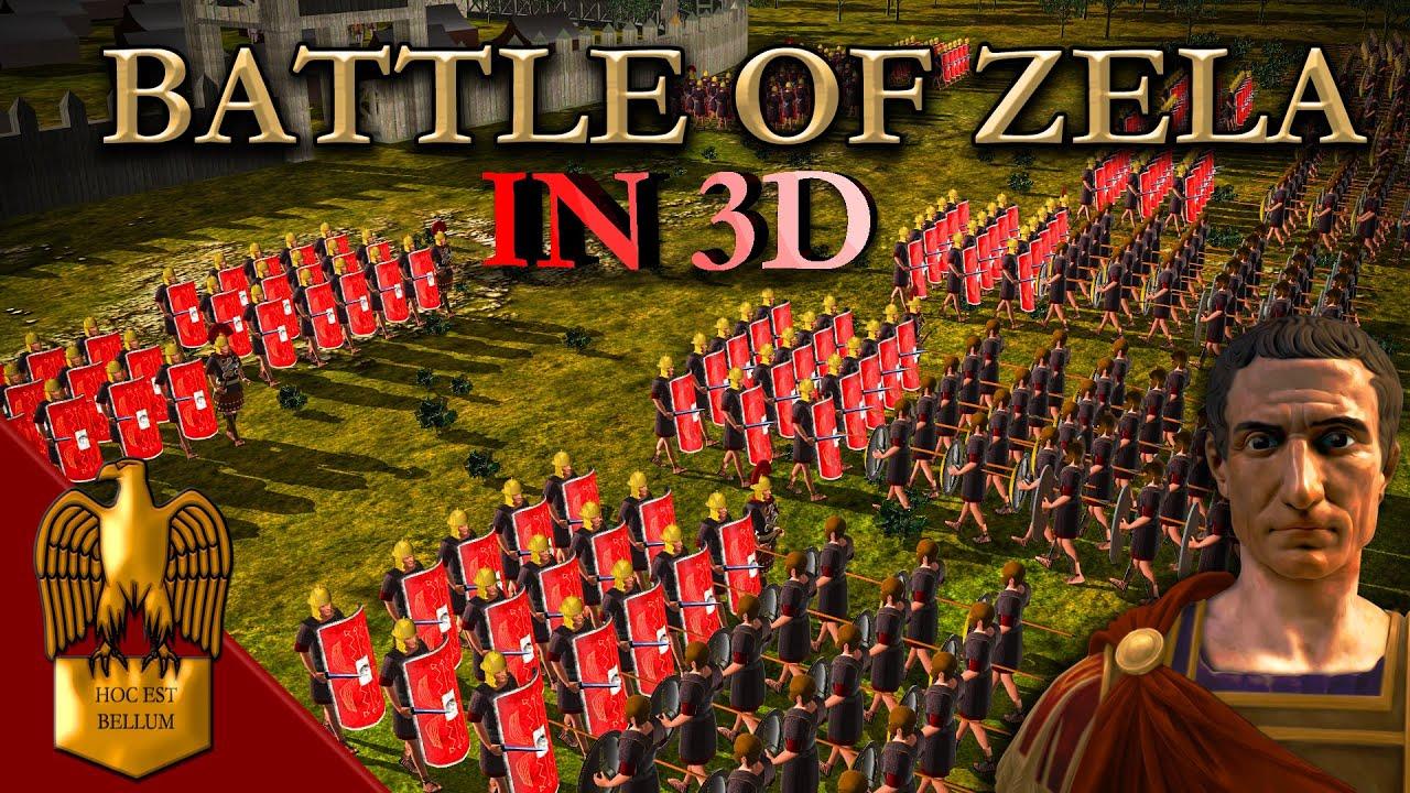 Battle of Zela (IN 3D) - Julius Caesar Vs Pharnaces II of Pontus  47 B.C.E.