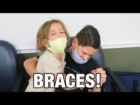 GETTING BRACES ADJUSTED | LITTLE SISTER GIVES BIG BROTHER SUPPORT AT DOCTOR'S VISIT