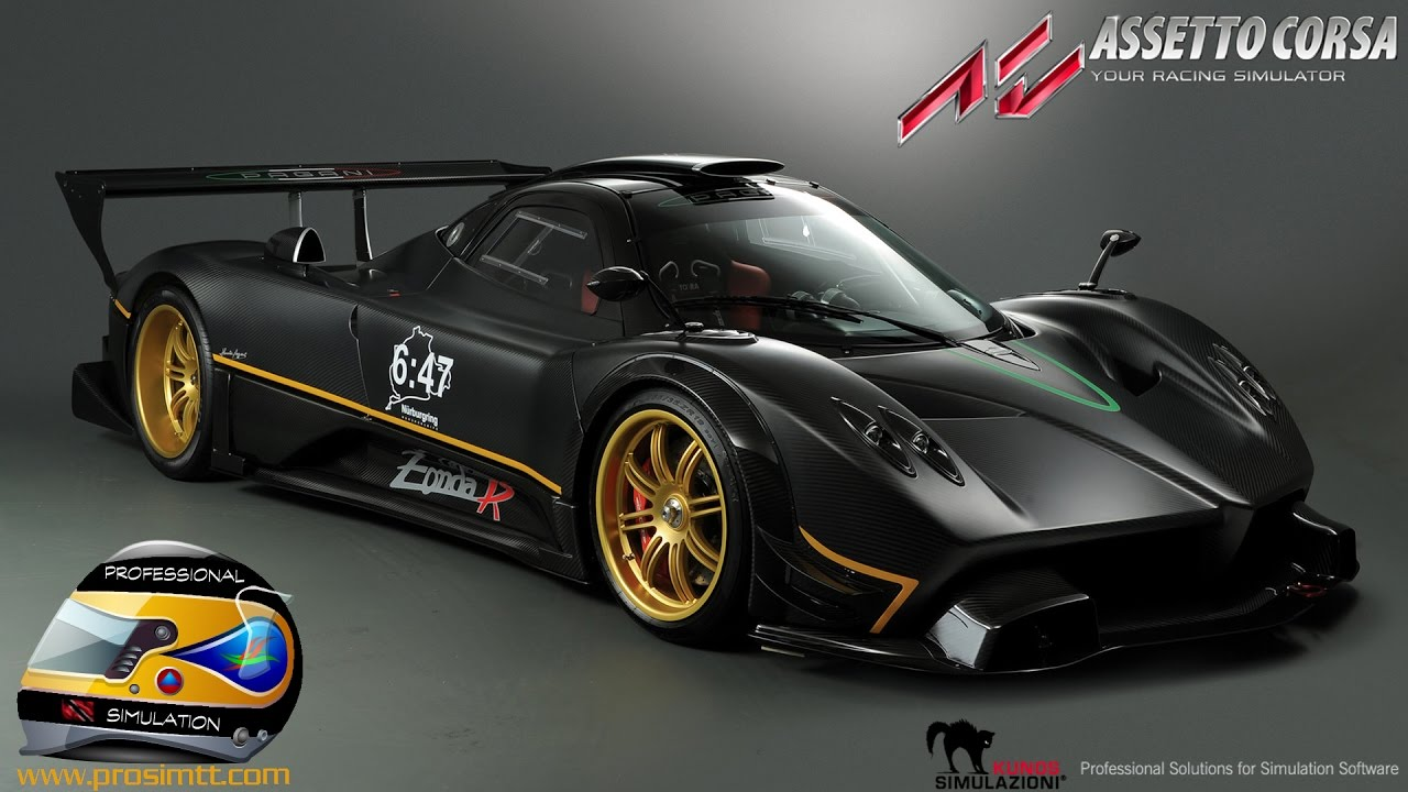 Assetto Corsa: Pagani Zonda R at Mugello Circuit - YouTube