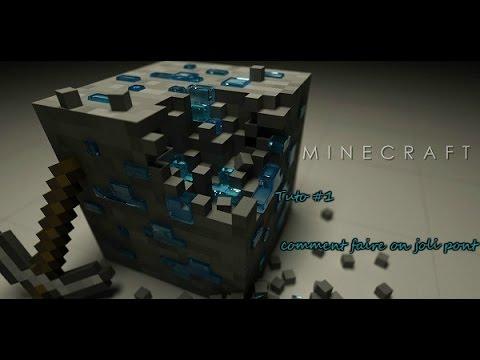 minecraft tuto comment faire un joli pont basique youtube. Black Bedroom Furniture Sets. Home Design Ideas