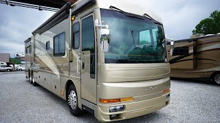 SOLD!! 2006 American Tradition 42R Class A Diesel, 4 Slides, Tag Axle,400 Cat,15K Tow, $89,900