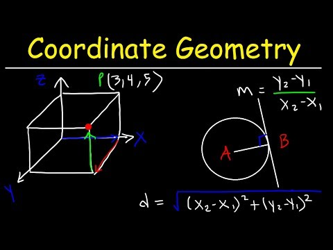 Coordinate Geometry, Basic Introduction, Practice Problems