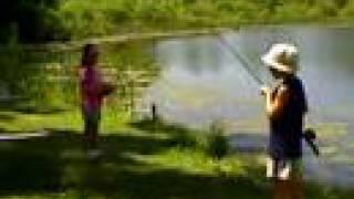 Kids Fishing at Lost Lake Township Park, Oakland Township