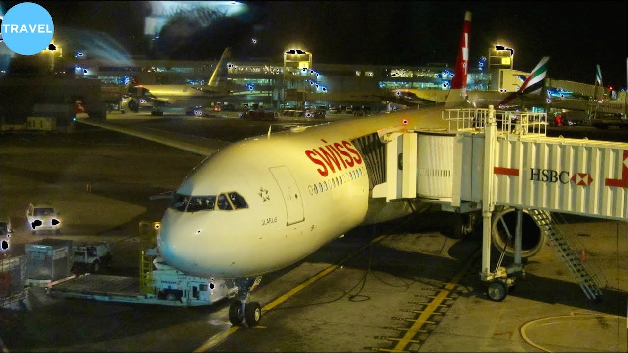 SWISS A330-300 Evening Taxi, Takeoff and Climb at New York JFK!