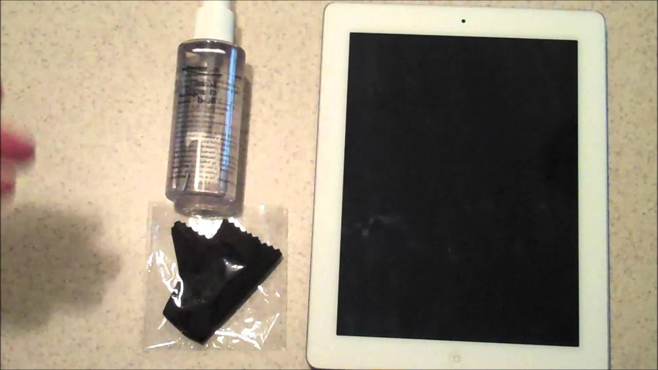 how to clean a tablet touch screen youtube. Black Bedroom Furniture Sets. Home Design Ideas