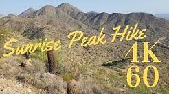 Sunrise Peak Trail - McDowell Mountains Hike - 4k