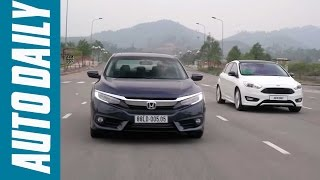 Autodaily.vn | Honda Civic 1.5L VTEC Turbo 2016 vs Ford Focus 1.5L EcoBoost 2016
