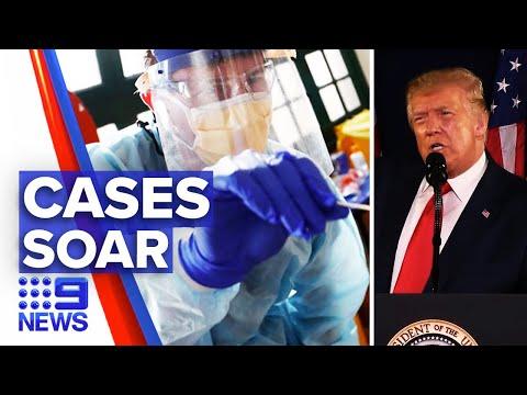 Coronavirus: 57 thousand new cases in America | 9 News Australia