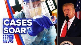Coronavirus: 57 thousand new cases in America   9 News Australia