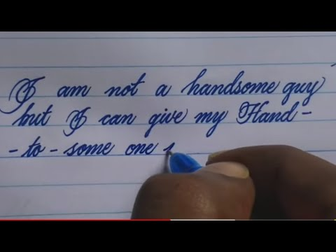 Neat and good handwriting with gel pen | beautiful handwriting | calligraphy