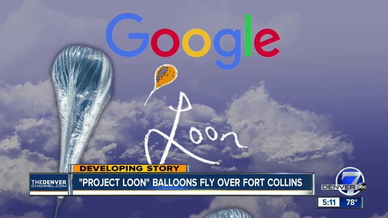 White Lights In The Sky Over Fort Collins Turn Out To Be Google S Project Loon Balloon Youtube