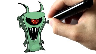 Dessine en moins de #5 minutes la slug ghoul doc - TUTORIEL - SLUGTERRA
