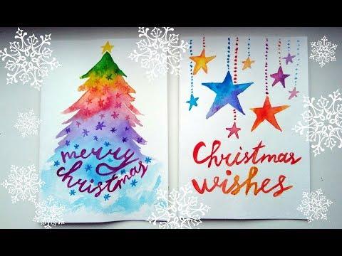 DIY Easy Christmas Cards Ideas – Watercolour Tutorials