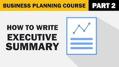 How to Write a Executive Summary for your Business Plan?