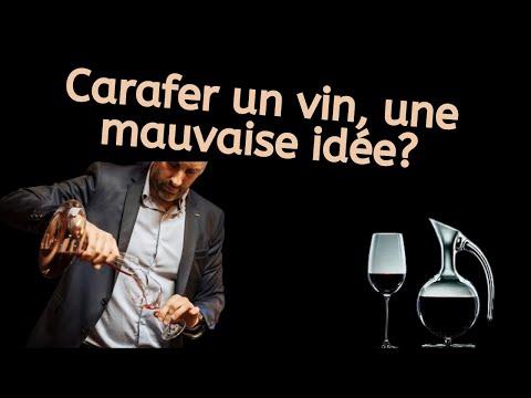 Carafer un vin, une mauvaise idée !?